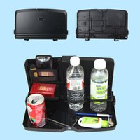 Wholesale Car Back Seat Tray Foldable Vehicle Drink Holder Dining Table Sundry Tray Car Rear Seat Drink Rack Mount Accessories High Quality