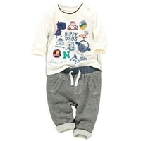 Wholesale 2015 New Boys N Print Top stripe pants two sets size