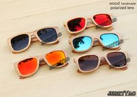 bamboo - handmade nature wood sunglasses bamboo wooden sunglasses wooden sunglasses Polarized sunglasses Fashion high end bamboo sunglasses UV400