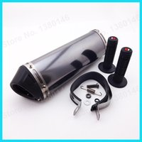 Wholesale Hand Grips mm Mute Exhaust Muffler With Removable Silencer Pit Dirt Bike ATV Motocross Motorcycle CRF KLX TTR Pit Dirt Bike order lt no t
