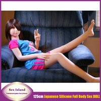 female sex dolls - Japanese cm Lifelike Real Solid Full Silicone Sex Doll Artificial Vagina Oral Love Doll For men Realistic Female Sex Doll