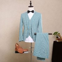 Wholesale 2016 Custom Made Groom Tuxedos Best man Groomsman Men Various Occasions Wedding Party Eveing Suits Bridegroom Jacket Pants Vest CC04