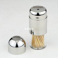 Wholesale 2015 Fashion Stainless Steel Toothpick Boxes Toothpick Bottles Toothpick Holders Toothpick Containers