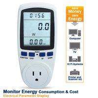Wholesale High Quality US Power Meter Energy Monitor Watt Amps Digital Wattmeter Meters Analyzer Automatic Kwh Power Switch