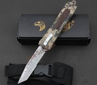 best boxing gear - 4 styles Microtech A163 combat troodon knife Digital camouflage handle Best pocket survival gear tactical knife knives with box