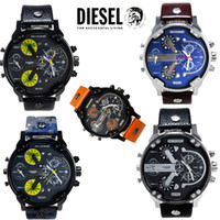 Wholesale 2015 hot Best Selling DZ Men s atmos Clock Leather Strap Watches Full Men Watch Steel Military Quartz Men s sports Wristwatch DZ7322 DZ7332
