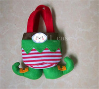 christmas gifts - Newest Christmas Gifts Bags Elf Santa Pants Style Candy Sugars Bags Demon Bags Xmas Cotton Bag for Children Kids Party Decoration Supplies