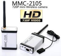 Envoyez des vidéos HD à n'importe quel pays du monde! Première mondiale mini MMC-2105W HD 720P Caméra sans fil numérique sans fil AV Bouton spécifique à l'émetteur