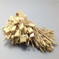 Wholesale 1000pcs hemp hang tag string in apparel jute hang tag strings cord for garment stringing price hangtag or seal tag