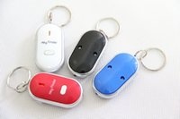 Wholesale LED Key Finder Locator Find Lost Keys Chain Keychain Whistle Sound Control