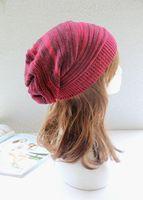 knit wear - 2014 NEW Skullies And Beanies Women Knit Baggy Hip Hop Beanie Brand Beret Hat Winter Warm Oversized Ski Double Wear Cap