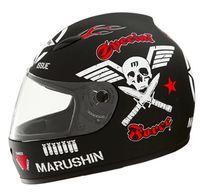 asian motorbikes - ECE authentication helmets Motorbike helmet off road helmet Light type motorcycle helmet marushin Asian Black Skull