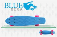 long board - Colorful quot Penny Style Skateboard Complete Backpack mini Cruiser Retro long skates fishing boards Girl Boy longboard Chirlden gifts