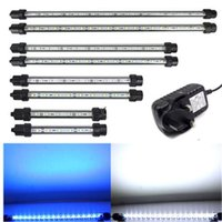 Wholesale 2015 UK Plug Aquarium Fish Tank lamp LED Light Blue White Bar Submersible Waterproof Clip Lamp CM C20