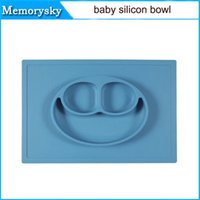 Wholesale ezpz Children Kid Baby baby silicon bowl One piece silicone placemat plate Baby learning silicone cups dishes without logo