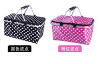 beverage environment friendly bag - 2015 New Picnic lunch bag Foldable Reuseable Compact Tote lunch cooler Bag Picnic Basket Environment Friendly