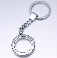 Wholesale Alloy mm Round Glaze Key Chains Magnetic Memory Living Floating Charm Locket