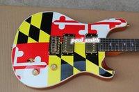 beautiful colorful birds - Hot sale Electric guitar frets colorful Mosaic guitar bird inlay beautiful cool custom shop high quality super Mahogany top