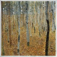 beech panel - Beech Forest Buchenwald by Klimt Decoration Wall Scenery Painting H