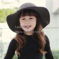 Cheap Girls Hats Children Caps Bucket Hat Kids Cap Sun Hat Girls Caps Autumn Winter Wide Brim Hats Kids Hat Fashion Wool Cap Cowboy Hat Baby Hat