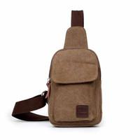 army chest - 1 Piece Latest Men Chest Bag Fashion Accessories High Quality Canvas Casual Pure Color Shoulder Bag Messenger Bag
