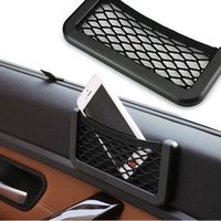 Wholesale Net Automotive Pocket Organizer Bag Phone Holder Storage Car Accessories