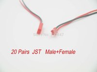 Wholesale 20pairs mm JST pin connector plug lead wire For RC Lipo battery discharge ESC BEC Board line Male Female