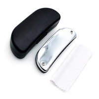 Wholesale Holes Blues Harp Mouth Organ with Case Cleaning Cloth Boat shaped Diatonic Harmonica Key of C Reed Instrument Gifts