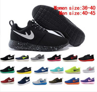 Wholesale Top quality Newest Roshe Run Men Women Black Blue Running Shoes Fashion london olympic sport Athletic Shoes Eur Size