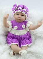 Cheap 2015 New Simulation Lifelike Handmade Baby Home Doll With Sweater Clothing Silicone Reborn Baby Doll Toys Girls Brinquedos