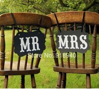 Wholesale Mr Mrs Wedding Party Photo Props Chair Signs Banner Decorations Black