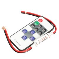 Wholesale DC V Keys RF Remote Controller Mini Dimmer for Led Single Color Strip B2C Shop