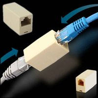 Wholesale 2015 Top Fashion Socket Protector Internacional Adaptador Newtwork Ethernet Lan Cable Joiner Coupler Connector Rj45 e Extender Plug Drop