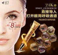 Wholesale wholesale50pcs K Gold Collagen eye cream anti wrinkle creams moisturizing whitening Repairing Essence Eye Gel Cream eyes care ml