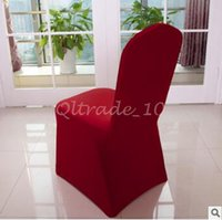 Wholesale 300pcs CCA3325 High Quality Spandex Chair Covers Colors Customized Banquet Chair Covers For Wedding Decors Home High Elastic Chair Cover
