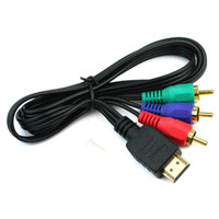 audio video hub - 5pcs Video Audio Component Convert Cable HDMI Male To RCA Hub FT RCA AV Cord Adapter For HDTV VGA m