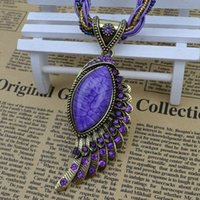 vintage costume jewelry - Vintage jewelry Small beads Drop Pendant Crystal angel wing Necklaces women costume dress N587
