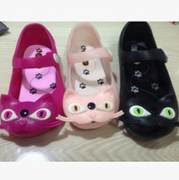 Wholesale-sandalias de verano 2015 nuevos zapatos del agujero botón de las sandalias de la jalea cabeza de gato bebé gv989 infantiles
