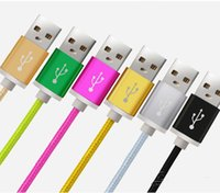 ap mobile - Luxury Aluminum Metal Braided Mobile Phone Cables Micro USB Data Cable For Samsung Galaxy S3 S4 S6 Not2 Note4 ap Fast Charge V8 Cable