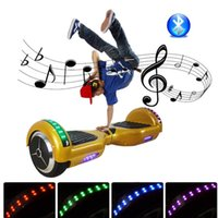 Wholesale LED Scooter Scooter Smart Balance Hoverboard Smart Balance Scooter Bluetotoh Electric Scooters Two Wheel With Bluetooth LED Light And Remote