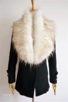 rabbit fur wrap - New Fashion Womens Solid Winter Scarf Fox Fur Collar Shawls Ladies Rabbit Raccoon Fur Article Fake Warm Scarves Shawls FFA01
