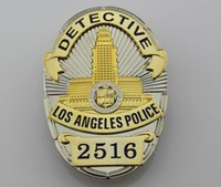 Wholesale 2516 stereo combination structure of American Losangeles detective badge LAPD No DETECTIVE