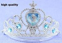Wholesale Frozen Crown Tiara headbands princess Tiara elsa anna girls cosplay dress up party tiaras crowns crown tiaras kids silver plastic kids crown