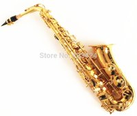 Wholesale French Selmer E Flat Alto Saxophone Top Musical Instrument Saxe Plated Gold Process Sax Salma