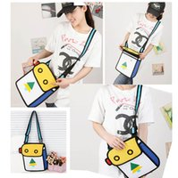 bag lady papers - Fashion D Bags Novelty comic jump From Paper Cartoon Bags D Drawing Cartoon Comic Handbag Lady Shoulder Bags Carry in Space Newest