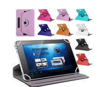 Wholesale MID Laptop PU Leather Universal Case for inch Tablet PC iPad Degree Rotate Stand Cover Fold Flip Covers Built in Card Buckle