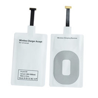 Wholesale High Quality Qi Wireless Power Charger Receiver Film Wireless Charger Charging Receiver Module Sticker for Android phone Samsung Note4 HUAWE