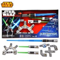 Wholesale Cosplay Star Wars Bladebuilders Jedi Master Lightsaber can luminous voice weapon toy assembled laser sword kids christmas gift