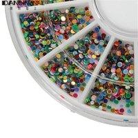 acrylic colour wheel - Fashion Wheel Mixed Colours Nail Art D Decoration Glitter Rhinestone Beads Acrylic Shiny Accessories Manicure Tools
