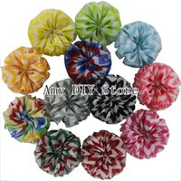 Wholesale quot Promotion Child Hair Accessories Chiffon Flower Handmade Flower Chevron Chiffon Ballet Flowers
